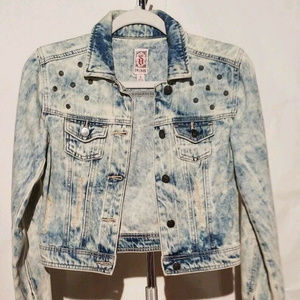 Woman's Cropped Distressed Decree Jacket Size S